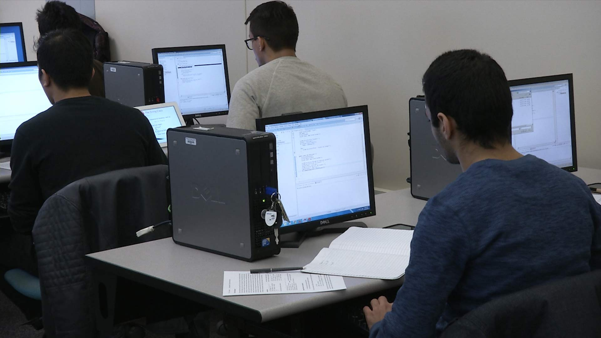 NOVA students in a programming course.