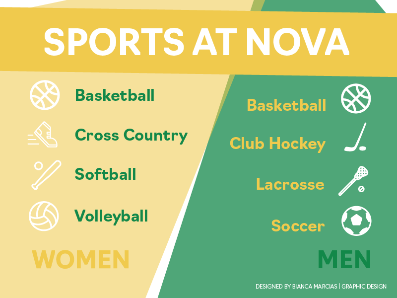 Basketball, cross country, softball, volleyball, hockey, soccer and lacrosse.