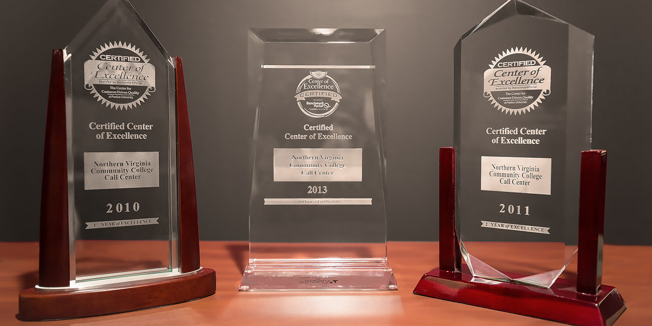 three performance awards the call center has received