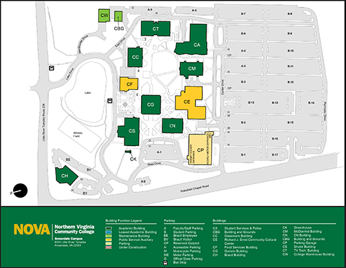 alexandria nova campus map Annandale Campus Northern Virginia Community College alexandria nova campus map