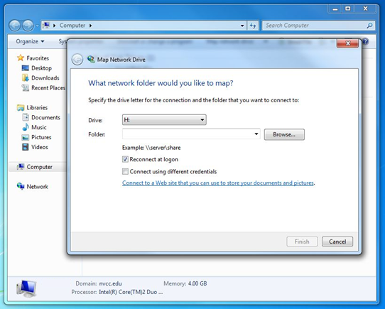 Mapping Network Drives - Windows 7 :: Northern Virginia ... on