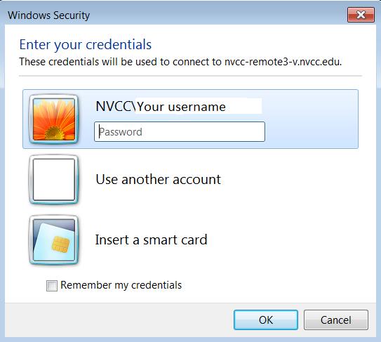 MS Remote Desktop Client :: Northern Virginia Community College