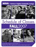 Fall 2007 schedule cover.