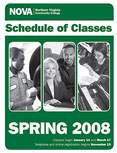Spring 2008 schedule cover.