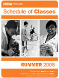 Summer 2008 schedule cover.