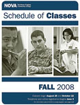 Fall 2008 schedule cover.