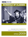 Spring 2009 schedule cover.