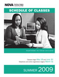Summer 2009 schedule cover.