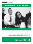 Spring 2010 schedule cover.
