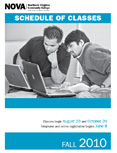 Fall 2010 schedule cover.
