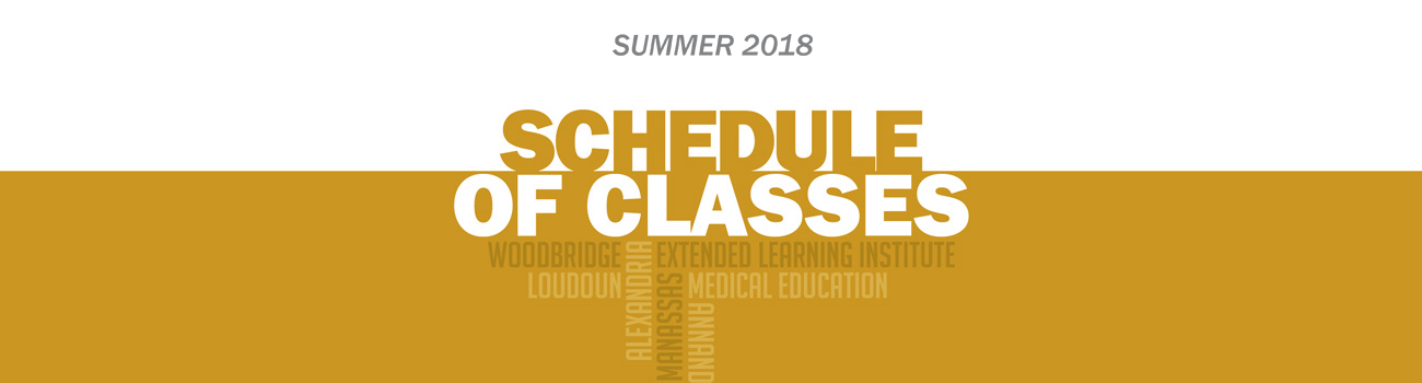 Schedule of Classes - Summer 2018 :: Northern Virginia Community College