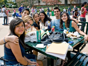 NOVA students on an outdoor picnic